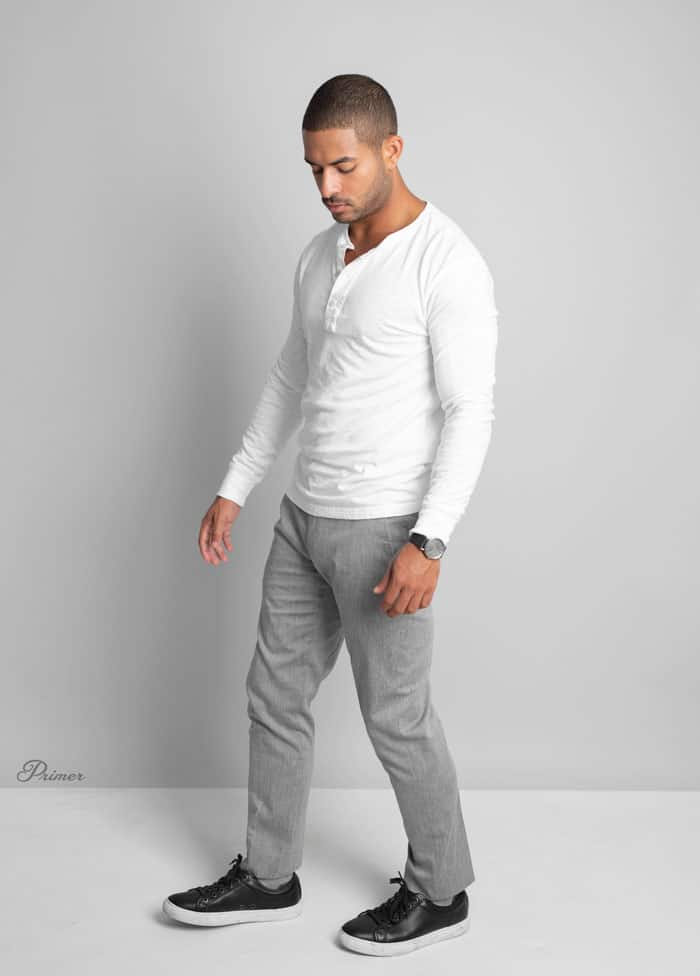 men's minimalist style idea