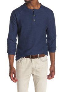 raglan long sleeve henley shirt