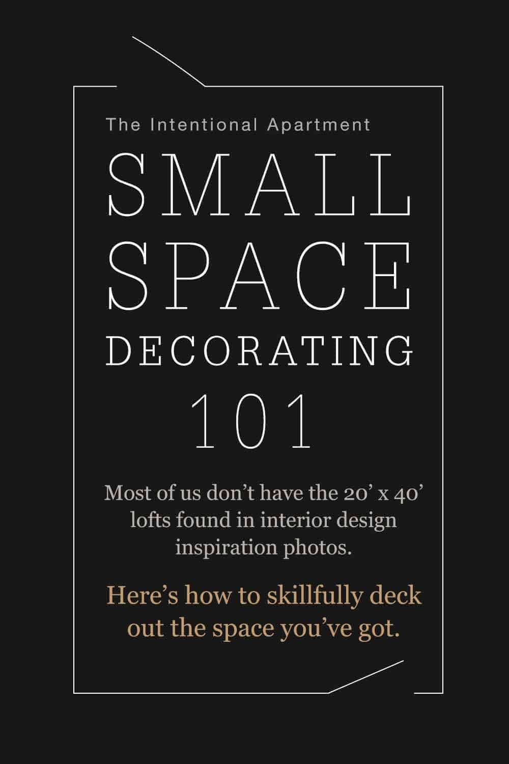 How to decorate a small room - Small Space Decorating 101