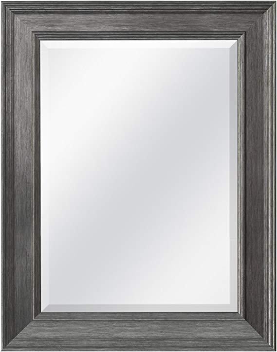Image of MCS 15.5x21.5 Inch Wall Mirror, 21.5x27.5 Inch Overall Size, Pewter (20448)