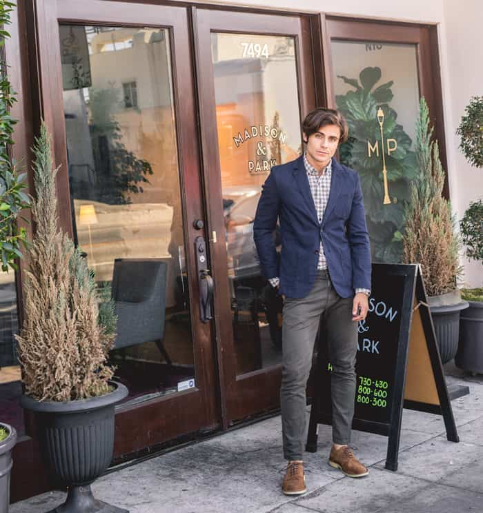 smart casual fall men outfit ideas blazer The Getup