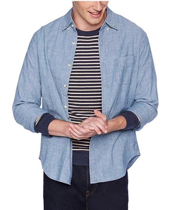 chambray shirt with stretch amazon