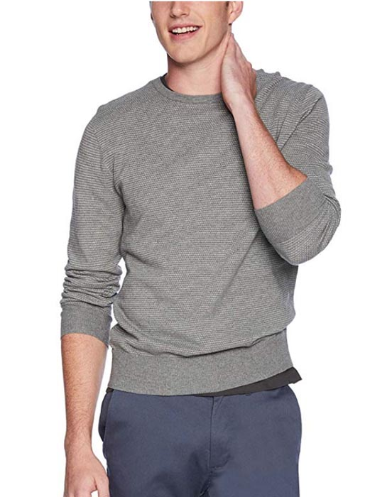 gray crew neck sweater