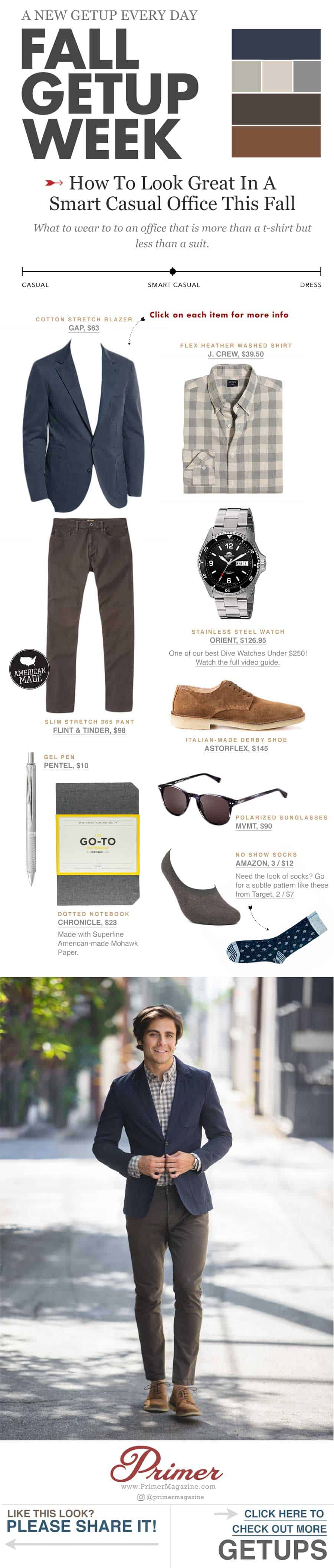 Fall Getup Week - Smart Casual Office - men fashion