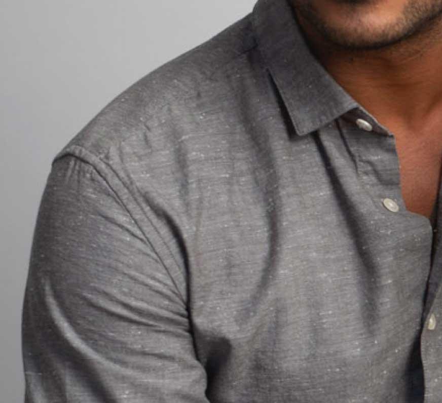textured gray mens shirt