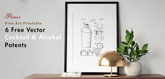 Spruce Up Your Home Bar With These 6 Free Vector Cocktail & Alcohol Patents