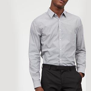 Gray button up shirt