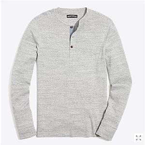 Gray henley shirt