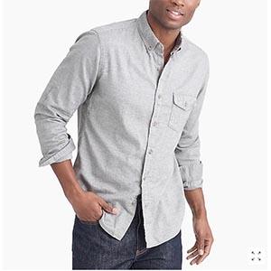 Gray button shirt
