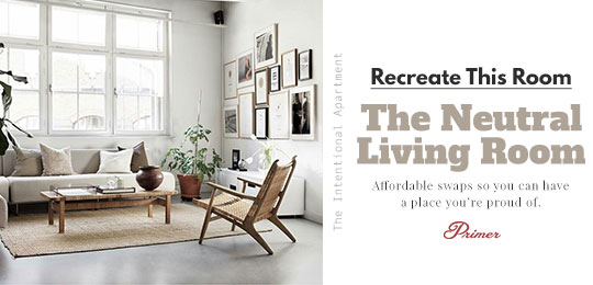 Recreate This Room: The Neutral Living Room