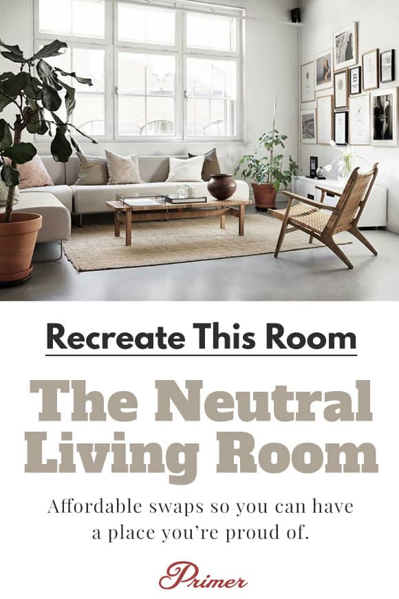 The Neutral Living Room   Apartment Inspiration for men