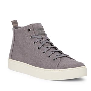 Gray high top sneakers
