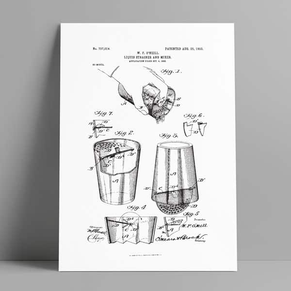 cocktail strainer patent art download
