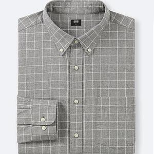 Gray check shirt