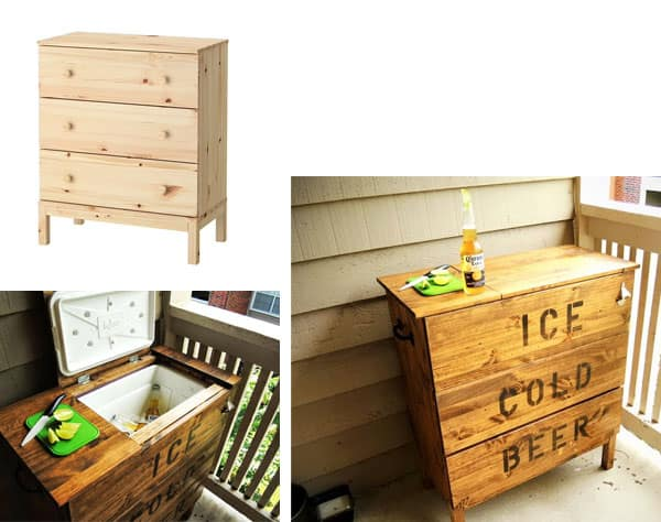 ikea hack ice box