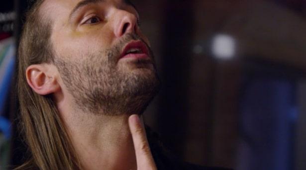 Van Ness explaining where to shave your beard