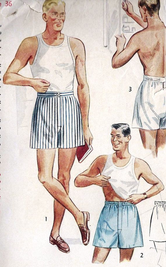 Vintage ad for boxer shorts