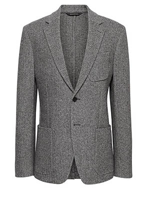 Gray tweed sportcoat