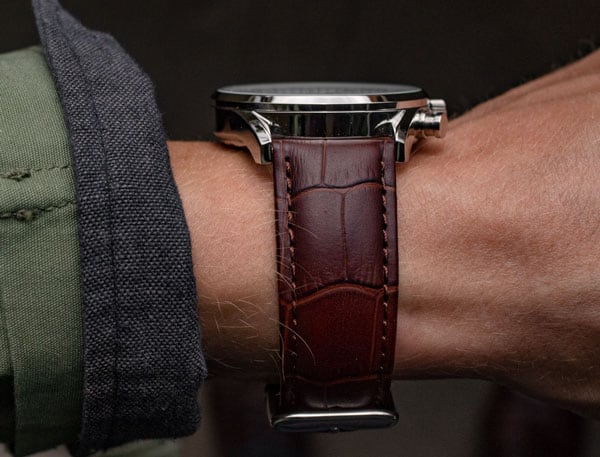 crocodile watch strap - vincero