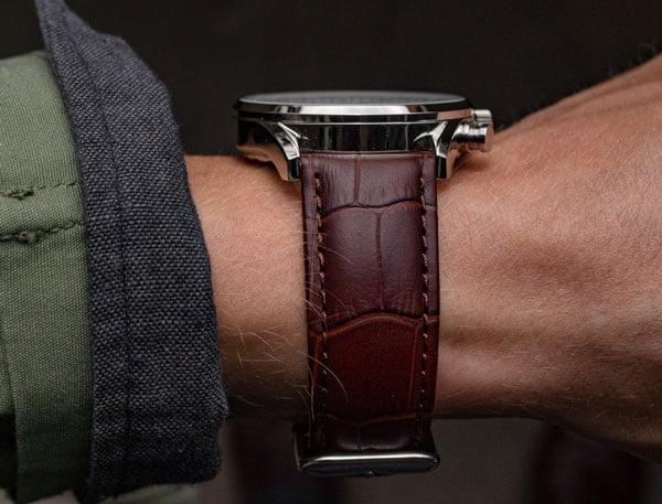 crocodile watch strap   vincero