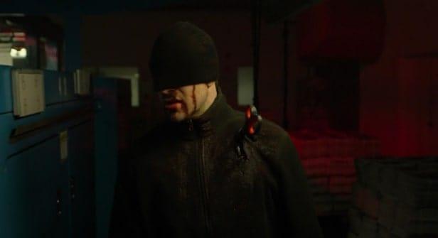Daredevil wearing a black mask