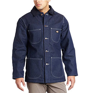 A long denim jacket