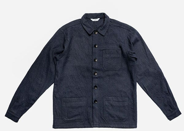 Image of Shop Jacket Navy Boiled Wool