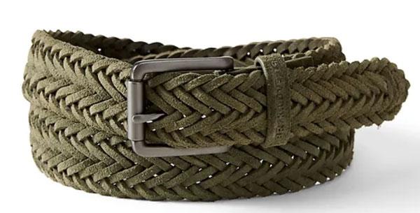 A braided green belt