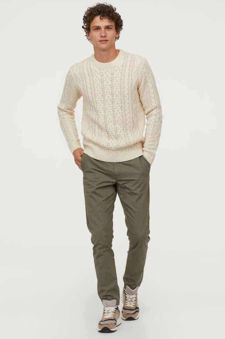 Image of H&M Cotton Chinos Slim fit
