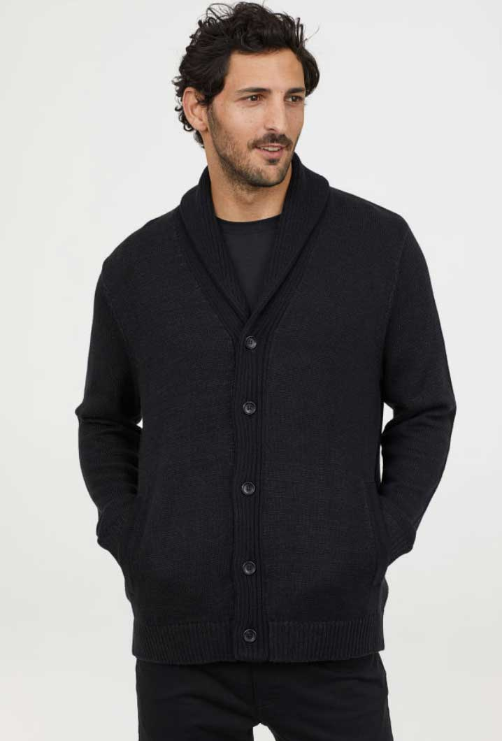 Image of H&M men's knit cardigan