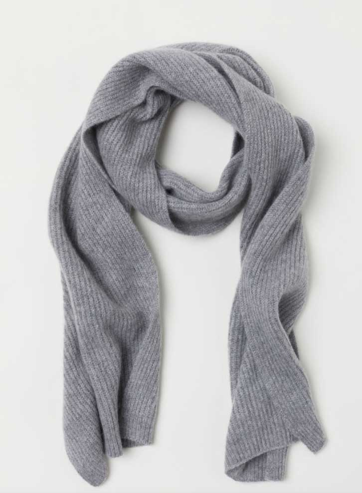 Image of H&M men's cashmere scarf