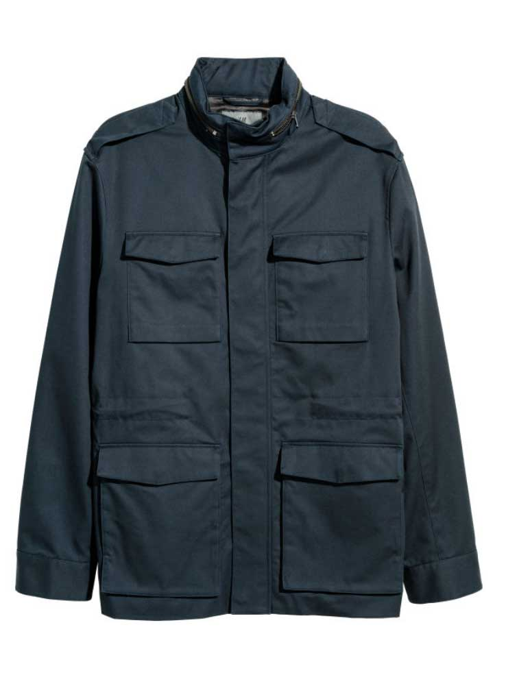 Image of H&M cargo twill jacket for men