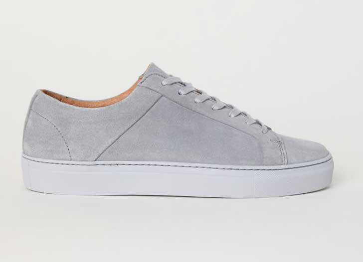 Image of H&M men's grey suede sneakers