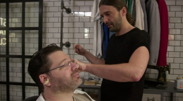Jonathan Van Ness waxing ears