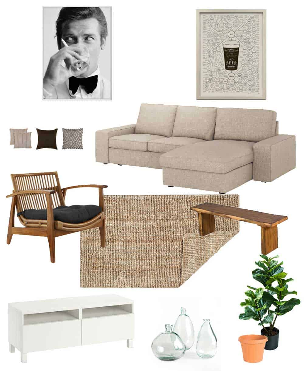 the neutral living room