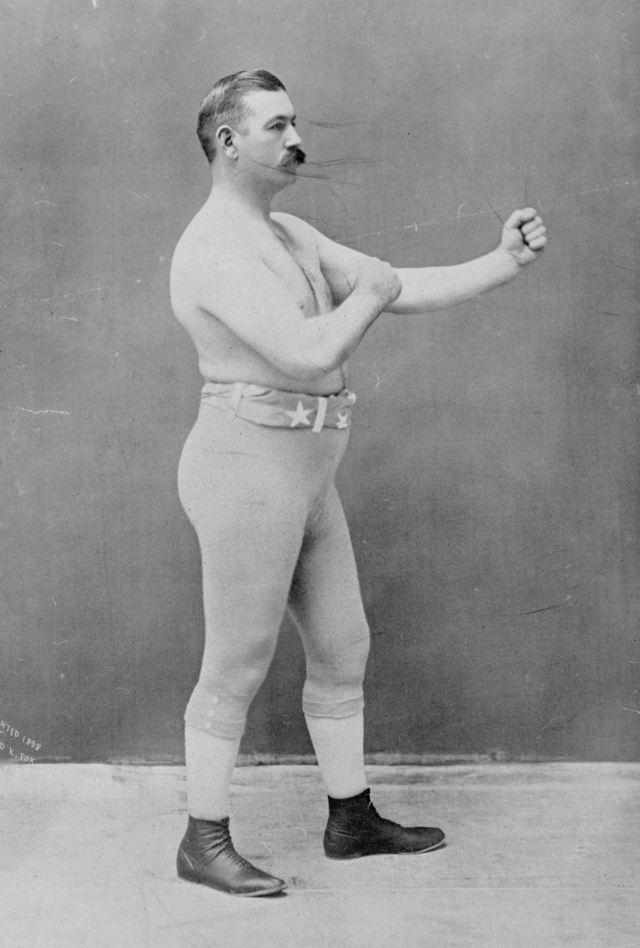 John L. Sullivan standing posing for the camera