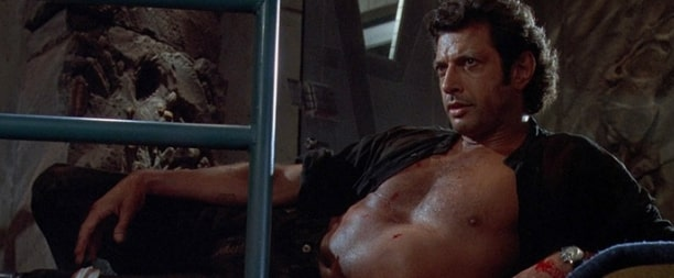 Jeff Goldblum looking at the camera