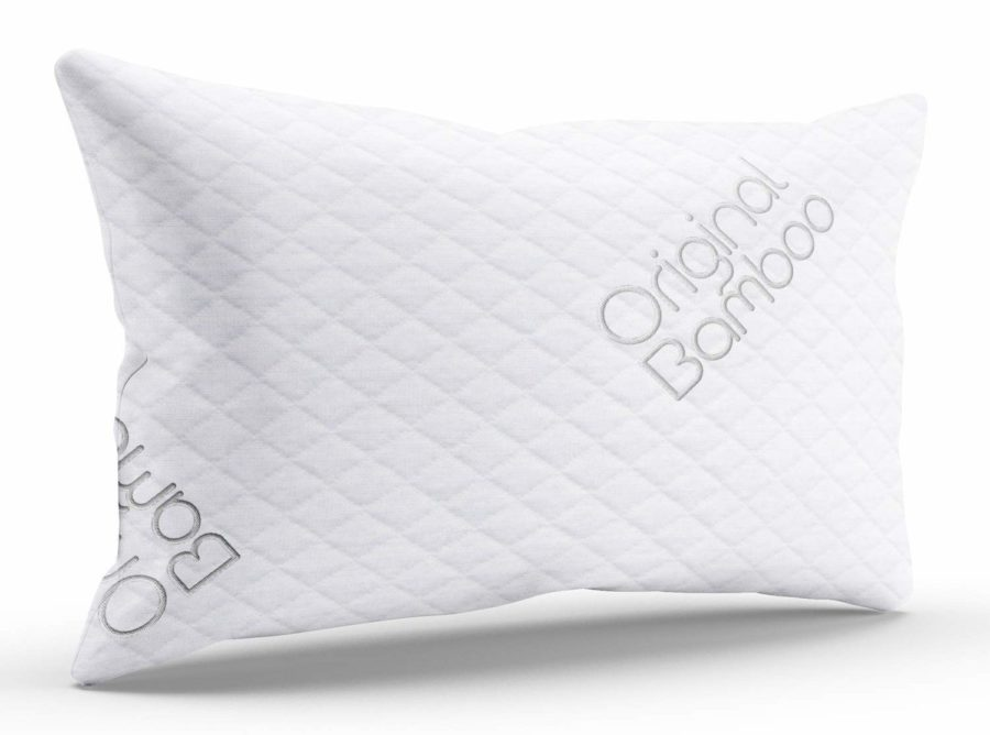 Image of Triple Cloud Pillows Shredded Memory Foam Adjustable Standard/Queen Pillow with Removable Hypoallergenic Cover - Made in The USA (Standard/Queen)