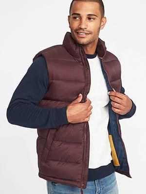 Burgundy puffer vest