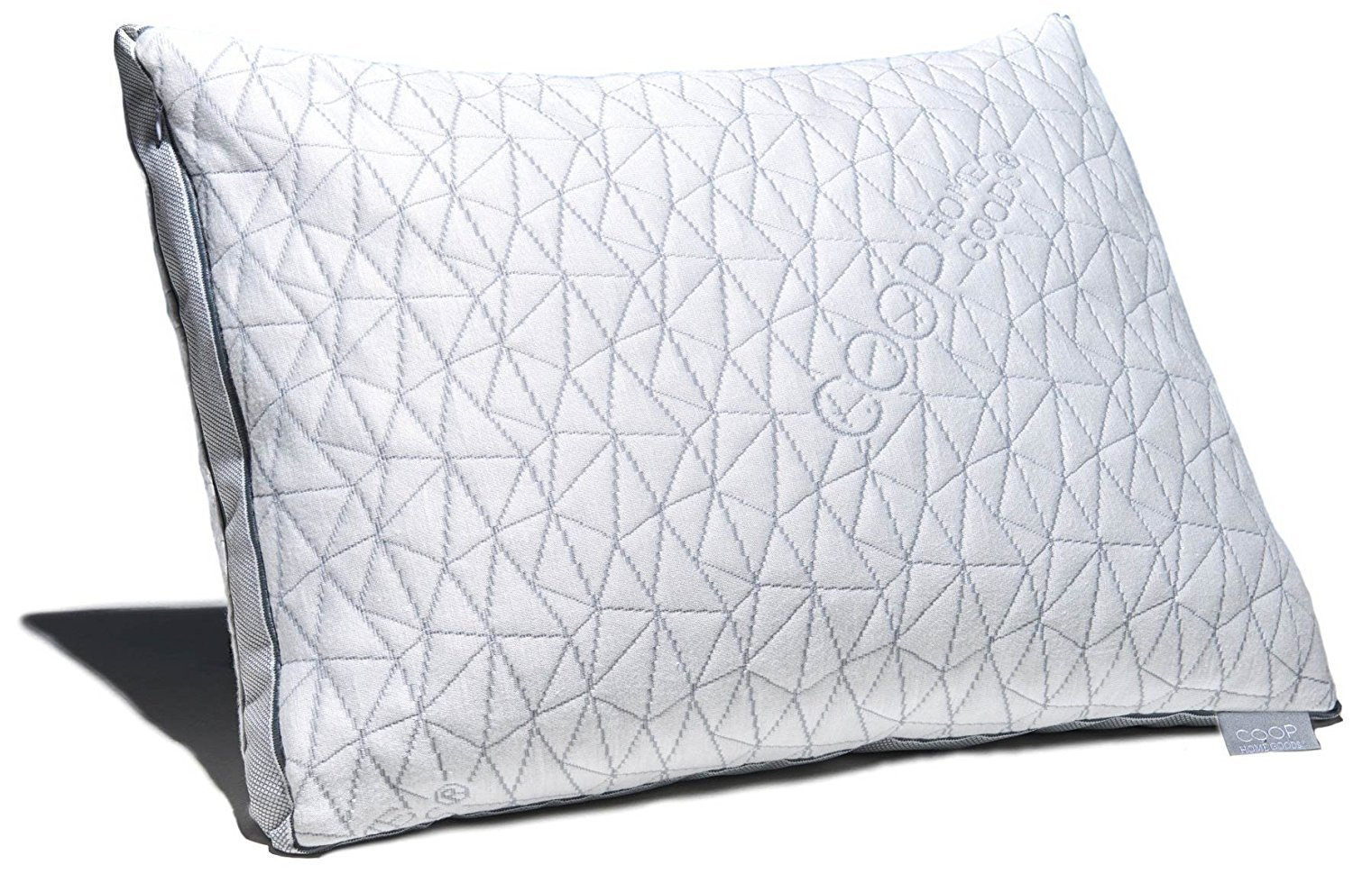 Image of Coop Home Goods - Eden Shredded Memory Foam Pillow with Cooling Zippered Cover and Adjustable Hypoallergenic Gel Infused Memory Foam Fill - Queen