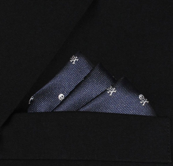 Skull pocket square