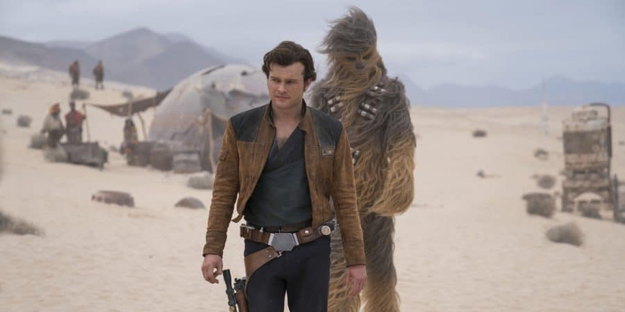 Han Solo and Chewbacca walking