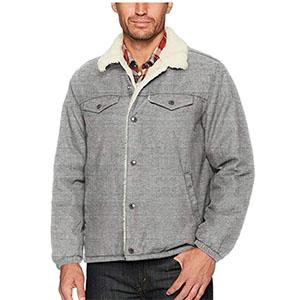 Gray sherpa trucker jacket