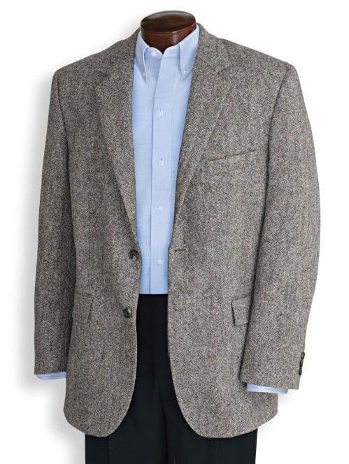 A gray blazer