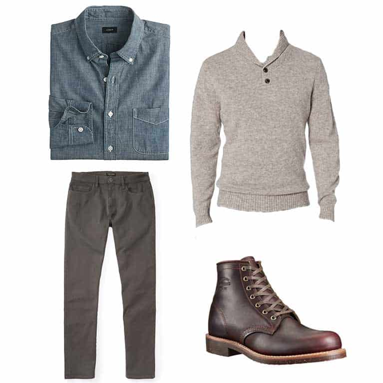 men's fall and winter outfit idea