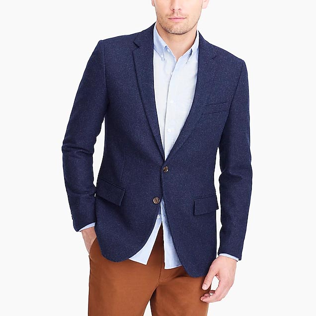 jcrew factory navy blazer