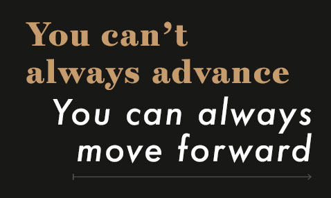what to do if you don't get a promotion - You can't always advance, you can always move forward