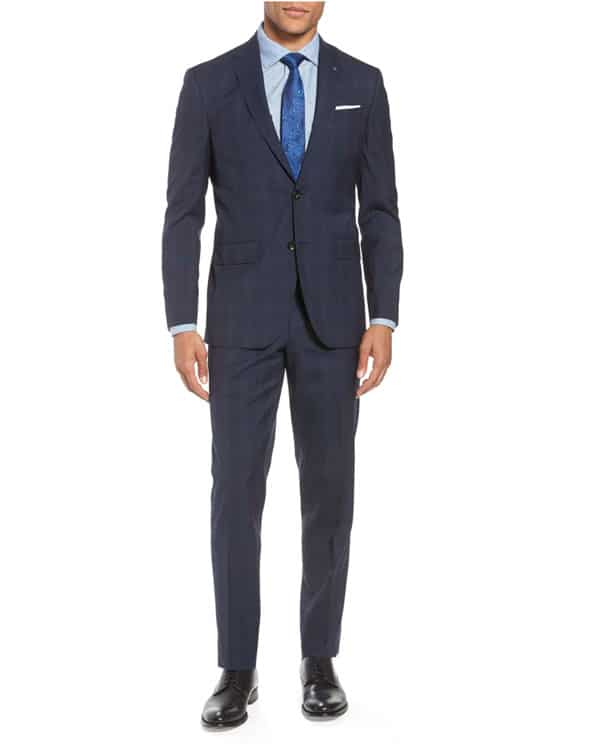 Image of Jay Trim Fit Plaid Wool Suit