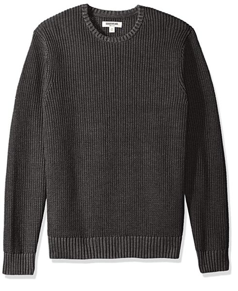 A gray knit sweater