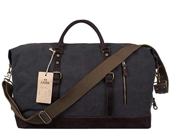 A carryon bag made of canvas